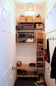 Mud room, custom organization system